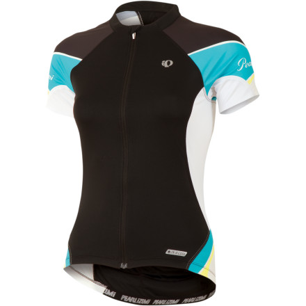 Fitness Hard-core riders, whether on the road or the forested trails, really appreciate a well-designed, utilitarian jersey. And if a company can throw in a little techy expertise in the fabrics, they're even happier. If you, too, are in need of an everyday jersey that will give you top performance without depleting your bank account, look no further than the Pearl Izumi Elite Women's Short Sleeve Jersey. Pearl Izumi packed this jersey with high-performance materials and thoughtful design to make sure that you'll get the most out of every training ride. The Elite Short Sleeve Jersey excels on warm-weather training rides thanks to the lightweight Elite Transfer fabric, which offers exceptional moisture management by effectively wicking moisture and drying quickly. It also includes the special In-R-Cool technology that reflect the sun's rays to reduce surface temperatures on the fabric (up to 35 degrees F in direct sunlight) and provide UPF-50-rated protection. To further ensure your comfort, Pearl Izumi has also welded stretchy mesh Direct-Vent panels under the arms to offer extra ventilation. Easy all-out cooling has been made possible by the full length zipper that moves like a silky dream. Two back pockets hold your spare tube, a CO2 cartridge, and gel packs. A third sweat-proof pocket has been included so that you can keep your phone accessible and safe from damaging moisture. Extra support at the back pockets will keep them from sagging when fully loaded for a five-hour ride, and an elasticized gripper on the back has keeps the jersey fully in place. As usual, well-placed Pearl Izumi reflective elements will keep you visible at dusk. The Pearl Izumi Women's Elite Short Sleeve Jersey comes in The Pearl Izumi Elite Women's Short Sleeve Jersey comes in True Red, Scuba Blue, Paradise Pink, Orchid, Black. It is available in X-Small through XX-Large. - $99.95