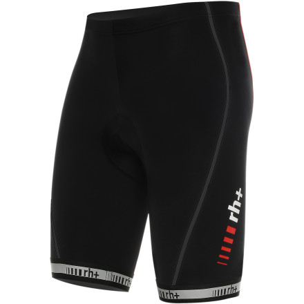 MTB Whether your preference is for bib shorts or shorts, we're all chasing the same dream -- endless comfort. Lucky for you, comfort is the Italian Zero RH +'s forte. And for this very reason it created the Logo in both bib shorts and regular shorts. So, you're now able to choose one of Zero RH +'s most successful designs in a fit that works for you. The leg panels of the Logo shorts were constructed with the Firedry Gold fabric. Zero RH +'s Firedry is a system of materials made into four versions that are distinguished by different weights and stretch characteristics. As with all of the Firedry fabrics, the Gold is lightweight and breathes exceptionally well. It also incorporates highly-elastic fibers that support the body's muscles through a full range of motion. However, what sets the Gold iteration apart from the other variants is its super-soft feel against the skin and added stretch. The shorts' panels were joined together using a technique known as 'preformed anatomic construction.' This method of cutting the individual panels on a curve provides a comfortable, natural fit, especially in the crouched riding position. Zero RH + knows that this tucked-in fit requires special attention to areas prone to fabric bunching and pulling. It also rounded out the bottom hem with its proprietary 3.5cm leg microfiber/elastic leg grippers for a secure, non-binding fit. And because the overall comfort of a pair of shorts cannot exceed the quality of the chamois contained within, the Logo features the exclusive Uranus chamois. This hand-sewn insert features high-density foam that evenly distributes pressure as you move in the saddle. We also want to point out that Zero RH + constructs the Stretch Control Short on a curve. This ensures that the gender-specific Uranus conforms to the body's shape in a cycling position. The Zero RH + Logo Shorts are available in six sizes from Small to XXX-Large and in the colors Black, Black/white, and White/black. - $75.71