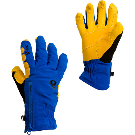Ski The Stoic Welder Gloves fully welded softshell construction, waterproof Sympatex bladder, and extremely durable goat skin reinforcements have the competition in a cold sweat. The insulated but extremely breathable Welder Glove wants in, whether your aim is set on mid-winter peak bagging, all-day backcountry ski tours, or just a day inbounds at your local mountain. An insulating Merino wool liner manages moisture, keeping your hands dry and comfortable, while a layer of Primaloft synthetic insulation fends off the deep freeze. The Welders low-profile wrist closure and zipper access fits under your jacket sleeves and wont catch up on ice tools while youre climbing, or get hung up on branches you while youre skiing. Stoics Talon finger design (grip like eagle!!) offers unparalleled dexterity\227say goodbye to removing your gloves on frozen ridgelines\227and the goat skin reinforcements stand up to ski edges, rocks, and other glove-tearing nasties. - $49.50