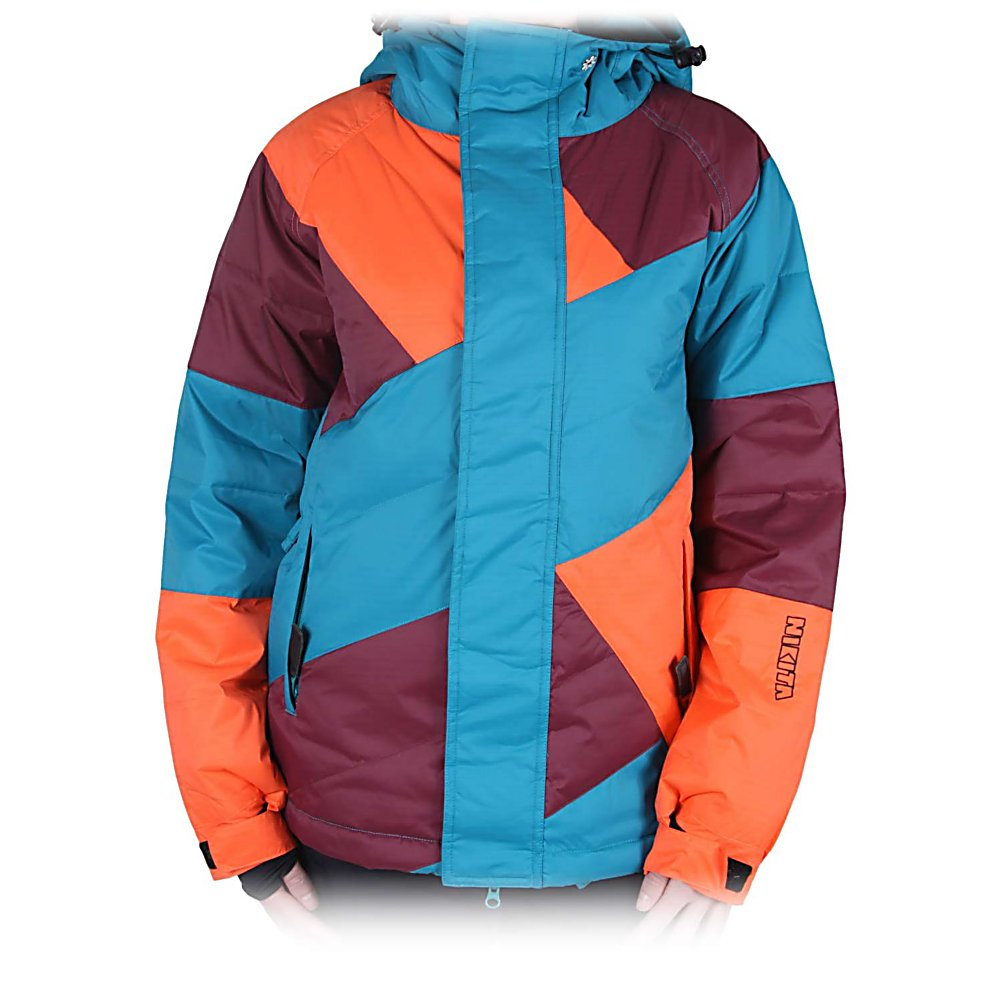 Snowboard Nikita Manaslu Womens Insulated Snowboard Jacket - The Nikita Manaslu Womens Insulated Snowboard Jacket is an amazing wind-blocking, powder-shielding piece of technology from Nikita. Rip up the mountain with 180 grade down and feather insulation to shield off chills and shivers as it lets out excess heat with double armpit vents. This jacket is made for mountain fun and comes in awesome retro bold colors and high fashion appeal. Features: Single Pull Hood Draw Cord, Adjustable Hood, Zip On/Off Pants/Jacket, I Pod pocket, Goggle pocket, Lift pass pocket, Super Soft Tricot Lining on Chin Flap, Collar and Inside Main Pockets, Down insulated. Pit Zip Venting: Yes, Powder Skirt: Yes, Warranty: Other, Battery Heated: No, Cuff Type: Velcro, Wrist Gaiter: Yes, Waterproof Zippers: No, Cinch Cord Bottom: No, Model Year: 2013, Product ID: 316500, Model Number: L36101900 XS, GTIN: 0828594768379, Breathability: Mild Breathability (5,001 - 10,000g), Waterproof: Mild Waterproofing (5,001 - 10,000mm), Insulation Type: Down, Length: Medium, Jacket Fit: Regular, Type: Insulated, Race: No, Hood Type: Fixed, Breathability Rating: 8,000g, Waterproof Rating: 10,000mm, Taped Seams: Critically Taped, Insulation Weight: 180g, Exterior Material: Nylon - $89.92