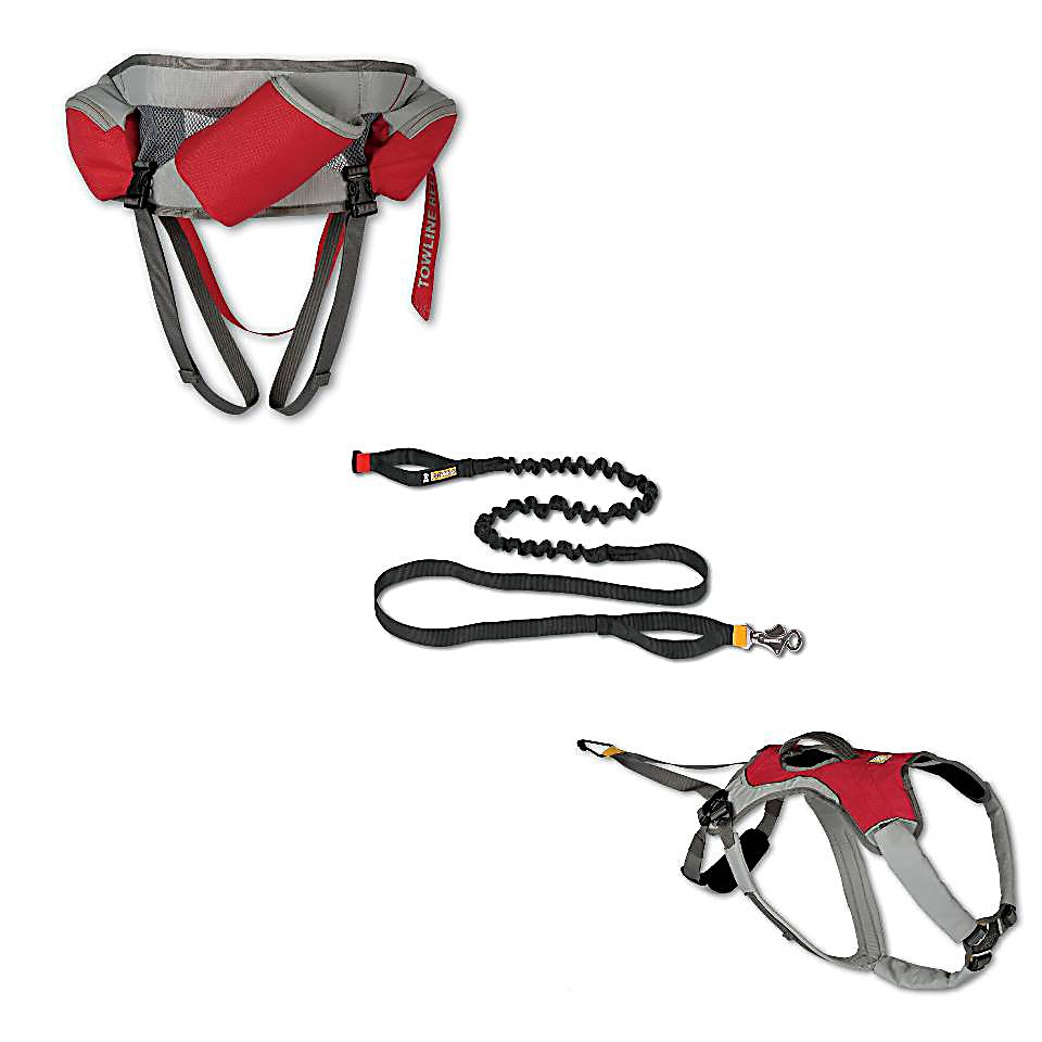Ski The Ruff Wear Omnijore Joring System is ideal for any dog-pulling excursion you head out on whether it's skijoring, mountainboardjoring, bikejoring and more.Dog Harness:The Dog Harness offers a canine-specific design, strategic padding and five points of adjustability ensures the ultimate in comfort for your dog.  An integrated top handle provides assistance when you have to maneuver the dog and a reflective trim will ensure visibility in low light conditions.Towline:The shock-absorbing towline was designed to minimize bounce and two handles will help provide maximum control.  An anodized aluminum Talon Clip along with its color-coded ends makes snapping in a breeze.Human Hipbelt:Comfortable and lightweight, the Human Hipbelt allows for 180 degrees of tow direction and is equipped with a quick disconnect if that becomes necessary. You'll have an integrated water bottle at your side as well as two zippered pockets to hold some of the necessities you bring along for the adventure.  Dog Harness,  Towline,  Human Hipbelt,  Model Year: 2016, Product ID: 257691, Model Number: 3040-615M, GTIN: 0748960073299 - $174.95