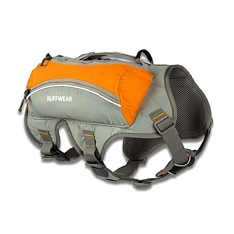 Ski Ruffwear Singletrak Pack 2013 - Dusty trail dogs rejoice! This sleek, low-profile hydration pack is ideal for longer adventures where having water readily available is crucial. Two on-board, removable Platypus water bladders mean your dog can carry his water...and yours! Two external stash pockets allow you to bring along the essentials. Word of Caution: It's recommended that your dog carry no more than 25 - 30% of their body weight in their dog pack. If your dog is new to dog packs, start with a light load and work up to a heavier load as your dog gets accustomed to wearing the pack. . Model Year: 2013, Product ID: 272690 - $89.95