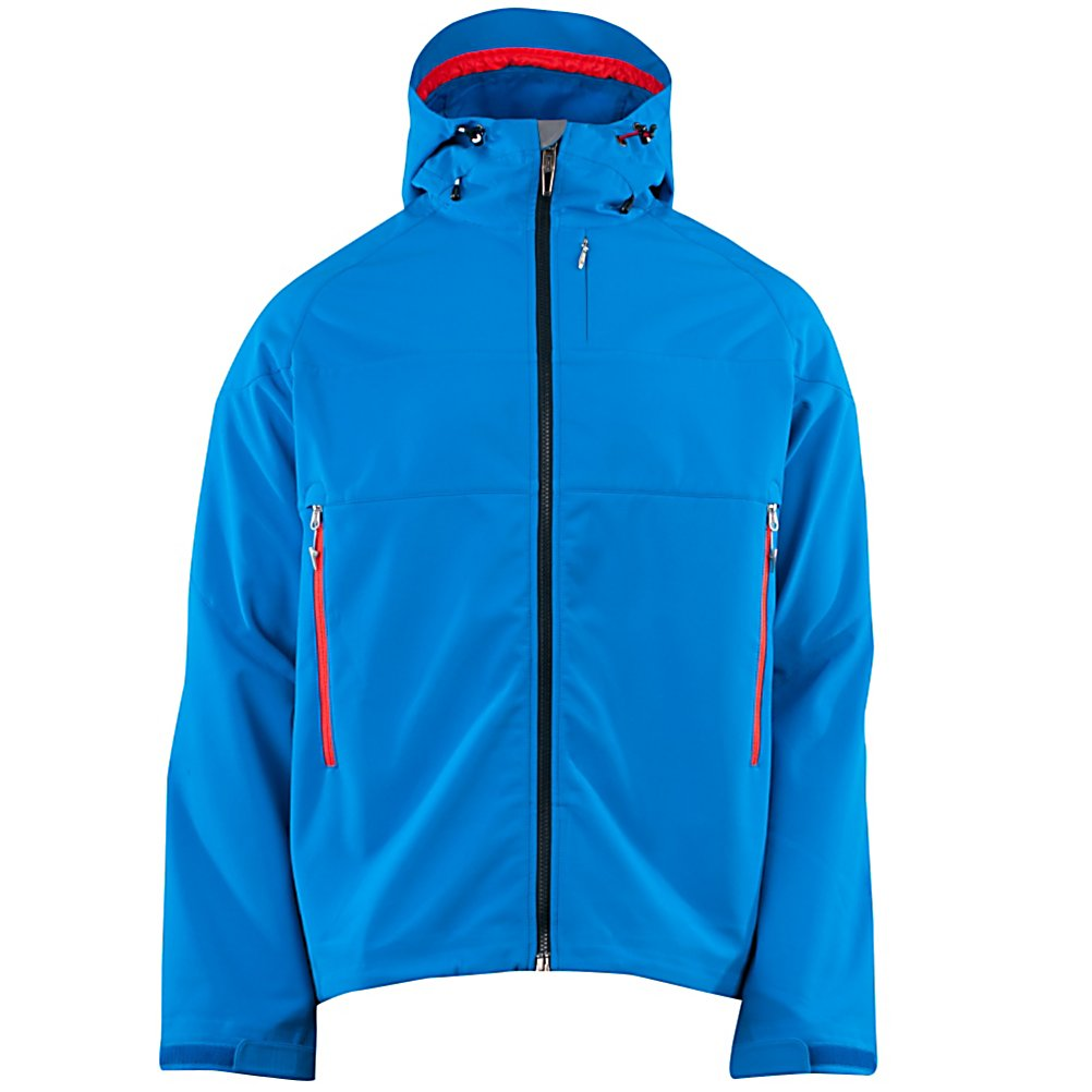 Ski Spyder Grindel Soft Shell Jacket (Previous Season) - The Spyder Grindel Softshell is an amazing piece of layer ski gear. It stands up to the elements thanks to a highly waterproof and breathable laminate and reinforced shell fabric on the shoulders and hood. You can wear this piece solo on warm springs days or with a lightweight shell in cold of winter. Under arm ventilation allows for the release of heat when the weather is warm. Internal zippered pocket and goggle pocket provide ample storage for any extra gear. The Grindel Softshell Jacket from Spyder is going to allow big-mountain skiers earn their turns with ease. Features: Internal zippered pocket. Exterior Material: Stretch Softshell with Fleece Backing and Spylon+DWR, Insulation Weight: None, Taped Seams: None, Waterproof Rating: 20,000mm, Breathability Rating: 20,000g, Pit Zip Venting: Yes, Pockets: 1-3, Goggle/Sunglasses Pocket: Yes, Hood: Yes, Warranty: Lifetime, Use: Ski, Battery Heated: No, Race: No, Type: Softshell, Jacket Fit: Regular, Length: Medium, Insulation Type: None (Shell), Waterproof: High Waterproofing (15,001 - 20,000mm), Breathability: High Breathability (15,001 - 20,000g), Cuff Type: Velcro, Waterproof Zippers: No, Wind Protection: No, Cinch Cord Bottom: Yes, Model Year: 2013, Product ID: 309922, Model Number: 123006427 M, GTIN: 0886311202582 - $149.91