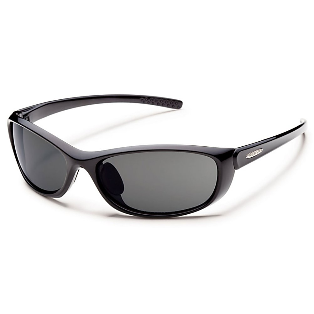 Ski Enhance every outdoor activity with the Suncloud Wisp.  The Wisp is small but full of active details. The megol nose pads keep Wisp in place during all your activities and the wrap shape offers extra coverage from the wind and sun. Lightweight grilamid frames provide all day comfort and polarized polycarbonate lenses reduce glare and provide 100% protection from harmful UV rays.  The Wisp will change the way you see everything.  Polarized Injection Polycarbonate lenses,  8 base lens curvature,  100% protection from harmful UVA and UVB rays,  Microfiber cleaning/storage bag,  GTIN: 0715757399986, Model Number: S-WSPPGYBK, Frame Shape: Rectangle, Product ID: 316128, Model Year: 2016, Lens Type: Polarized, Warranty: Lifetime, Face Size: Small, Gender: Adult, Polarized: Yes, Frame Material: Grilamid, Lens Material: Polycarbonate, Best Use: Streetwear/Driving - $50.00