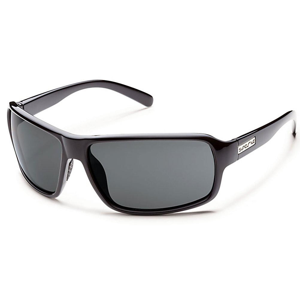 Ski The SunCloud Tailgate Sunglasses give you a lightweight pair of shades that boast a classic style.  Whether you're standing outside with your friends enjoying a BBQ in the parking lot or inside watching the team slay the enemy, the Tailgate will keep your eyes protected and provide you with optimal clarity.  The polarized polycarbonate lenses will reduce glare considerably and keep the harmful UV rays of the sun from getting to your eyeballs.  Look good with these stylish SunCloud Tailgate Sunglasses.  Polarized Injection Polycarbonate lenses,  8 base lens curvature,  Megol nose pads,  Microfiber cleaning/storage bag,  Best Use: Streetwear/Driving, Lens Material: Polycarbonate, Frame Material: Grilamid, Polarized: Yes, Photochromatic: No, Interchangable Lens: No, Additional Lenses: No, Gender: Adult, Face Size: Medium, Nose Pads: Yes, Warranty: Lifetime, Lens Type: Polarized, Model Year: 2016, Product ID: 316138, Frame Shape: Rectangle, Model Number: S-TLPPGYBK, GTIN: 0715757423018 - $50.00