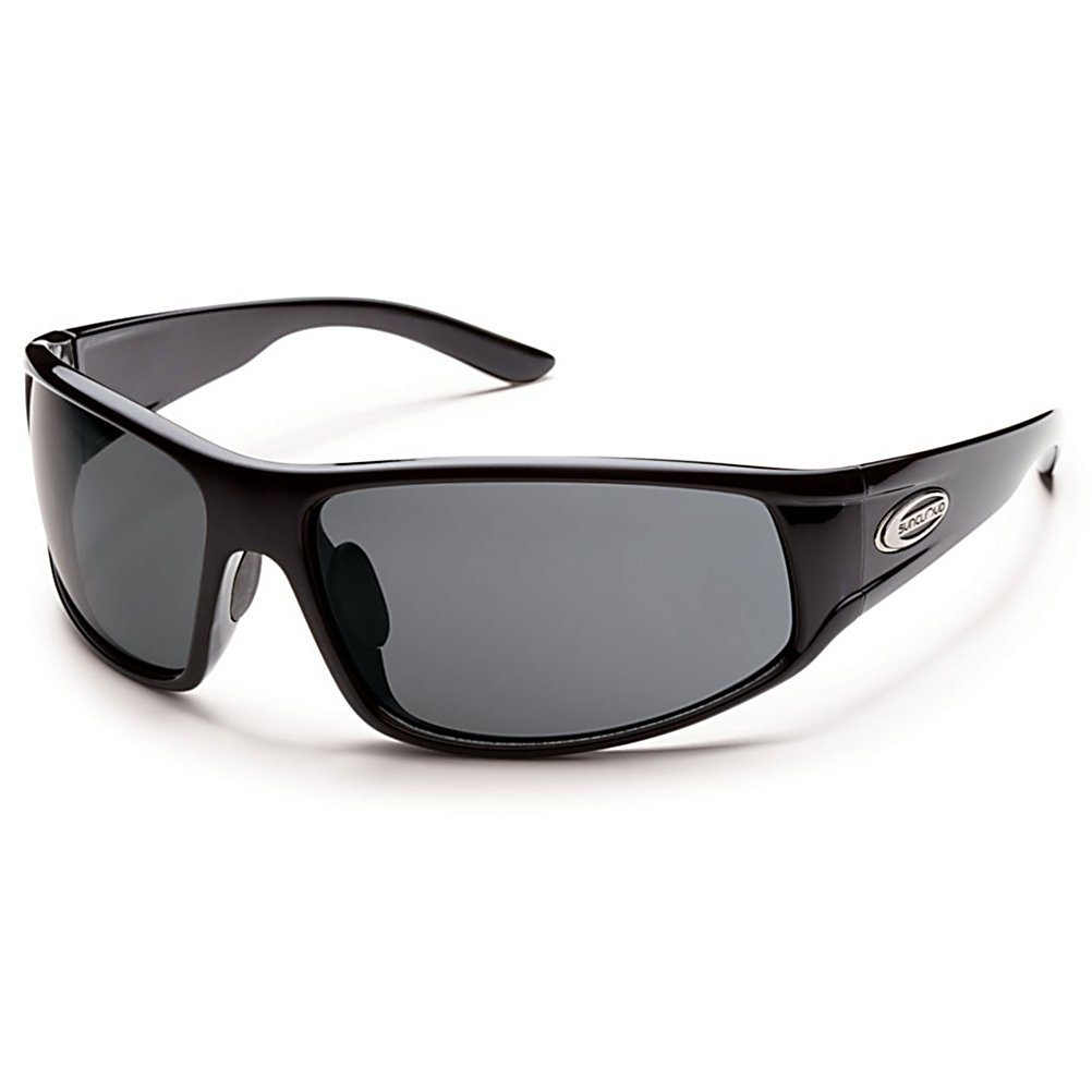 Ski SunCloud Warrant Sunglasses - The Suncloud Warrant is the only warrant you actually want to have. Full coverage and solid style emerge in this large fit, ready for action sunglass. Resilient grilamid nylon frame material features megol nose pads for comfort and a stay in place attitude, combined with glare reducing polarized polycarbonate lenses to meet the challenge of everyday use. The Warrant is going to be turning adds as you stroll by a free man. . Lens Type: Polarized, Model Year: 2015, Product ID: 316147, Frame Shape: Rectangle, Model Number: S-WAPPGYBK, GTIN: 0715757423063, Warranty: Lifetime, Face Size: Large, Gender: Adult, Polarized: Yes, Frame Material: Grilamid, Lens Material: Polycarbonate, Best Use: Multisport - $49.99