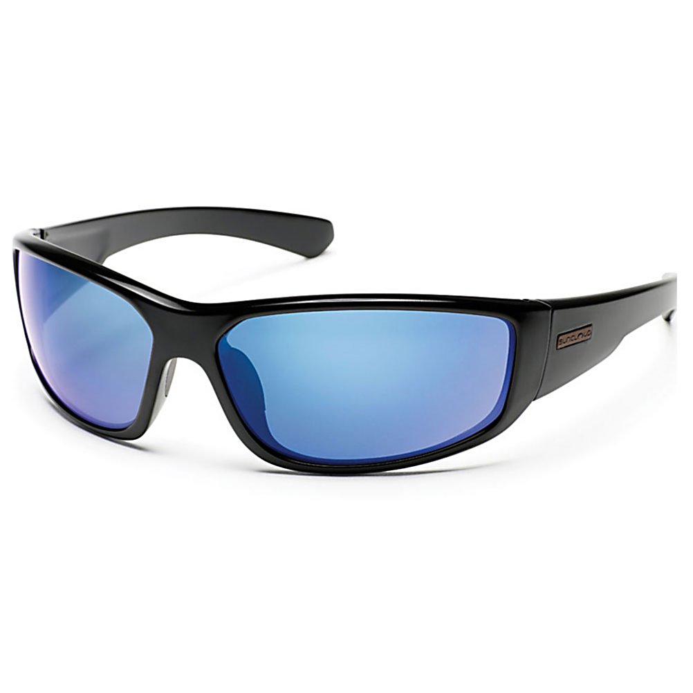 Ski SunCloud Pursuit Sunglasses - Pursuit goes with you on any adventure. Sporty wrap shape with megol nose pads, wider temple treatment and TR90 grilamid nylon complete this frame. With 100% protection from harmful UV rays, the polarized polycarbonate lightweight lenses. The Pursuit may attract people, you have been warned. . Best Use: Streetwear/Driving, Lens Material: Polycarbonate, Frame Material: Grilamid, Polarized: Yes, Gender: Adult, Face Size: Large, Nose Pads: Yes, Warranty: Lifetime, Lens Type: Polarized, Model Year: 2014, Product ID: 316295, Frame Shape: Rectangle, Model Number: S-PUPPUMBK, GTIN: 0715757346805 - $49.99