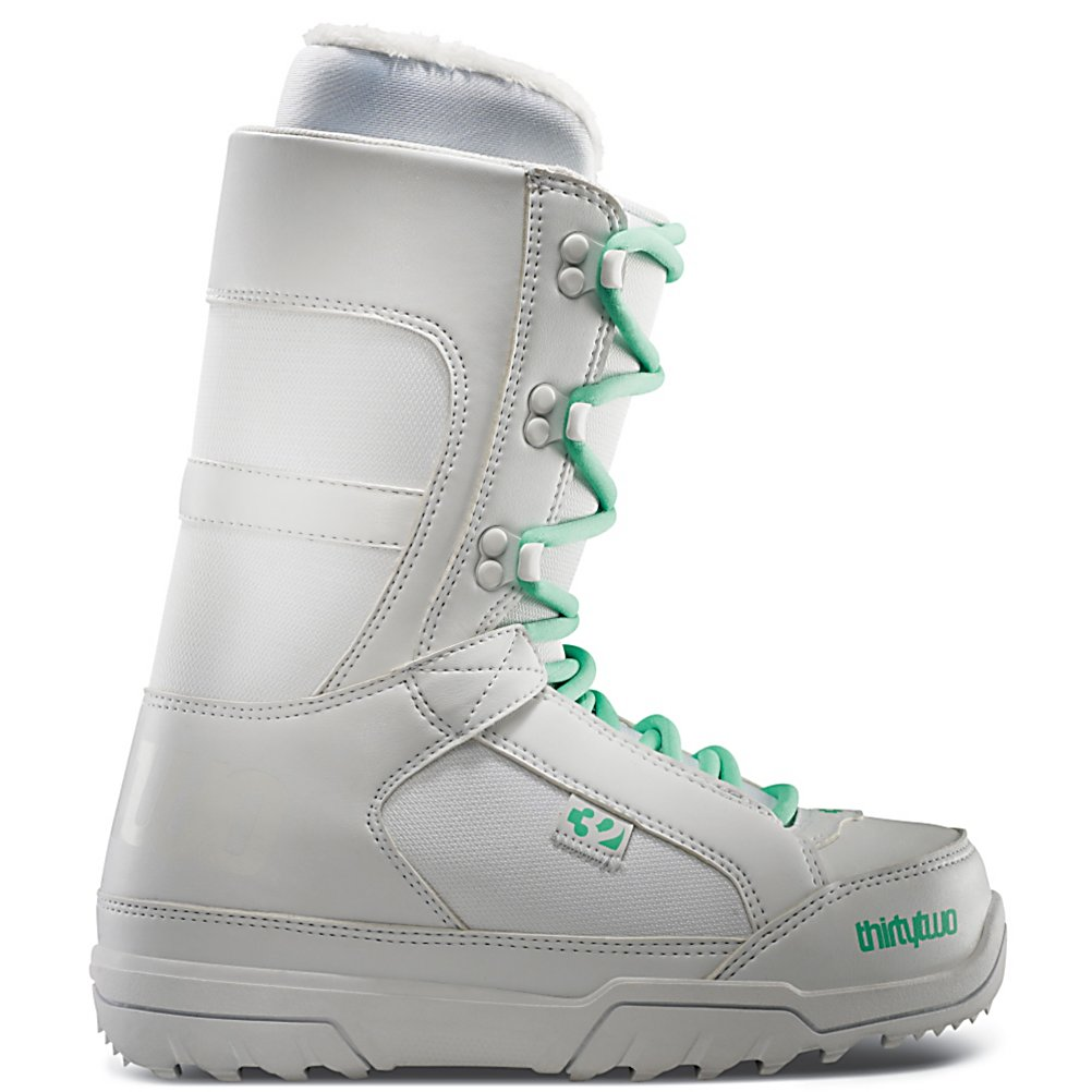 Snowboard ThirtyTwo Summit Womens Snowboard Boots - The ThirtyTwo Summit womens boot is going to help you stay warm and look stylish on mountain. It is in the comfort fit line of boots and is ready to roll right out of the box, but if you want, you can heat this boot up with a fully heat-moldable Level 1F Intuition liner and it is a game changer. Heat it up and custom fit it to your foot and experience a fit unlike any other. That with the cushy EVA footbed you have a boot that going to keep you on the hill all day long. All that with an internal liner lace and your heel is going to be locked in place. The Summit is a soft flexing boot and is all about comfort with just the right amount of performance features. The Summit is the right choice in a boot to get you off the couch and into the mountain. . Material: Level 1F Heat Moldable Liner, Lacing Style: Traditional Lace, Snowboard Best Use: All-Mountain Freestyle, Removable Liner: Yes, Flex: Soft, Warranty: One Year, Intuition Liner: Yes, Brand Lacing Style: Traditional Lace, Skill Range: Beginner - Advanced Intermediate, Model Year: 2013, Product ID: 315452, Shipping Restriction: This item is not available for shipment outside of the United States., Gender: Womens, Skill Level: Beginner, Model Number: 8205000106 100 6.0, GTIN: 0886744029398 - $79.95