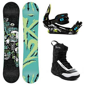 Snowboard K2 Vandal Kids Complete Snowboard Package - The K2 Vandal Complete Snowboard Package is a great all-terrain board but your little grom will love to take it into the park. The K2 Vandal Snowboard is equipped with a Jib Rocker which has just enough of a rise in the tip and tail to create a loose, buttery feel while maintaining instant response and pop. Hypritech in the tip and tail reduce swing weight for optimized turn initiation. The K2 Vandal Snowboard Bindings are made with a Profusion PC chassis that allows a forgiving flex with tool-less power ramp adjustment for your child's growing foot. A formed EVA footbed provides support all day long while ripping in the park. The Millennium 3 Militia Snowboard Boots features a removable Stitched Liner with the Soft Touch laces providing an extremely soft flex. The soft and comfortable Thermoform EVA footbed adds to the warmth and overall comfort of your child's feet. When they want to hit the rails and sail and soar through the air, make sure they have the durable and reliable K2 Vandal Complete Snowboard Package under their feet. . Skill Range: Intermediate - Advanced, Model Year: 2013, Product ID: 312964, Gender: Boys, Skill Level: Intermediate, Package Type: Board, Boots, and Bindings, Snowboard Rocker Profile: Rocker, Recommended Use: Freestyle - $249.99
