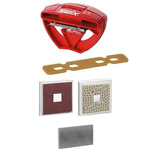 Ski Keep your edges in top condition with the Swix Carving Kit 1. The kit includes a file holder, file, square diamond stone and square abrasive stone for doing all of your basic side and base edge maintenance.  This kit also includes one ski break retainer, to keep your breaks down so you can make clean passes over the edges with the various stones and files in this kit.  File Holder with 40mm file,  Side-edge 88 and 89 degrees; base edge 0.5 and 1 degrees,  Diamond stone and sheet for case hardening,  Ski brake retainers,  GTIN: 7045951208948, Model Number: TA3005, Product ID: 117653, Model Year: 2016, Tool Type: Other - $44.99
