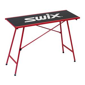 Ski Swix Waxing Table Racing 2014 - The Swix Waxing Table Racing is a stable and solid table to prepare your skis on. An adjustable height at 90cm and 85cm to give you the proper height for your comfort. All of the feet are adjustable with rubber on them to prevent the table from slipping while you work. A generous tabletop at 120cm x 45cm will fit two sets of cross country waxing profiles. Features: Weight: 34lbs.. Model Year: 2014, Product ID: 66288 - $399.99
