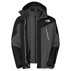 Ski The North Face Headwall Triclimate Mens Insulated Ski Jacket - Not sure if the forecast calls for a thunderstorm or snowstorm? No need to worry, the Headwall Triclimate Ski Jacket from The North Face has you covered. This versatile three-in-one jacket provides optimal cold and wet weather protection so you'll never need to debate on which jacket is right for the conditions. Wear it as a shell on those warmer days where you need wind and water proofing, wear the fleece for bumming around the house, or combine them to make for a warm, fuzzy insulated jacket. With a waterproof, breathable, seam sealed exterior featuring an adjustable, removable hood, you can stay dry during wet weather with just the shell. But we didn't forget about style, with fresh new colors and color blocking that will certainly turn heads. The North Face Headwall Triclimate Mens Insulated Ski Jacket has you covered in any weather. Features: Adjustable Cuff Tabs. Waterproof Rating: 17,600mm, Breathability Rating: 800g, Hood Type: Removable, Pit Zip Venting: Yes, Powder Skirt: Yes, Warranty: Lifetime, Battery Heated: No, Waterproof: Moderately Waterproof (5000mm-19,999mm), Breathability: Low Breathability (< 4000g), Cuff Type: Velcro, Wrist Gaiter: No, Waterproof Zippers: No, Cinch Cord Bottom: No, Model Year: 2013, Product ID: 282099, Shipping Restriction: This item is not available for shipment outside of the United States., Insulator: Yes, Insulation Type: Synthetic, Length: Medium, Cut: Regular, Type: 3-in-1 Jacket, Race: No, Use: Ski, Hood: Yes, Goggle/Sunglasses Pocket: Yes, Electronics Pocket: No, Pockets: 4-5, Taped Seams: Fully Taped, Insulation Weight: 80g, Exterior Material: HyVent 2L Nylon Dobby - $320.00