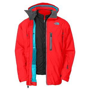 Ski The North Face Mendenhal Triclimate Mens Insulated Ski Jacket - The North Mendenhal Triclimate Jacket offers you tons of versatility. You can wear this jacket in four ways, you can wear it as a shell, zip-in a fleece liner jacket, wear the liner jacket alone and the liner jacket is also reversible giving you two different color choices, so its like you have four jackets in one. This jacket features a waterproof and breathable exterior with a removable soft shell interior. The Mendenhal is a standard fitting jacket that has a center front stormflap with zip and Velcro closure to keep the cold and snow out and a respirator collar panel will allows for breathability to keep your goggles fog free when you have the jacket zipped all the way up. There are pockets galore that come in handy for storing any little items you have. Core vents allow some cool air to get in to keep your core temperature from over heating. If you're looking for a jacket to endure the worst weather, slightly chilly days, and a simple walking around town jacket, the North Face Mendenhal Triclimate Insulated jacket is the one for you. Features: Hook and Loop Adjustable Cuffs, Snap-In Compatible. Exterior Material: HyVent 2L Proweave Ripstop, Insulation Weight: 100g, Taped Seams: Fully Taped, Waterproof Rating: 17,600m, Breathability Rating: 800g, Hood Type: Fixed, Pit Zip Venting: Yes, Pockets: 6-7, Electronics Pocket: No, Goggle/Sunglasses Pocket: Yes, Powder Skirt: Yes, Hood: Yes, Warranty: Lifetime, Use: Ski, Battery Heated: No, Race: No, Type: 3-in-1 Jacket, Cut: Regular, Length: Medium, Insulation Type: Synthetic, Waterproof: Moderately Waterproof (5000mm-19,999mm), Breathability: Low Breathability (< 4000g), Cuff Type: Velcro, Wrist Gaiter: No, Waterproof Zippers: No, Cinch Cord Bottom: Yes, Insulator: No, Model Year: 2013, Product ID: 282723, Shipping Restriction: This item is not available for shipment outside of the United States. - $229.95