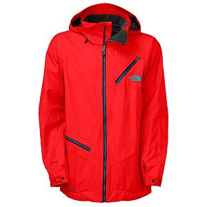 Ski The North Face Cymbiant Mens Shell Ski Jacket - Experience a brand new level of riding comfort when you pick up The North Face Cymbiant Jacket. This jacket features a waterproof, breathable shell with FlashDry technology that will improve the dry time and breathability so that you stay comfortable and dry quicker than before. The full sealed seams will also keep the water out of the jacket to keep you dry and should the weather really go south simply flip up the adjustable and helmet compatible hood to keep inclement weather away from you. Should things get too warm don't worry as the Cymbiant Jacket features core zip vents that allow you to regulate your bodies temperature by allowing as much air as you desire to flow through the jacket. There are tons of pockets on The North Face Cymbiant Jacket for storing your goggles, MP3 player and other small items that you may need while out on the slopes. . Exterior Material: HyVent 2.5L FlashDry Laminate Dobby, Insulation Weight: None, Taped Seams: Fully Taped, Waterproof Rating: 17,600mm, Breathability Rating: 800g, Hood Type: Fixed, Pit Zip Venting: Yes, Pockets: 6-7, Electronics Pocket: Yes, Goggle/Sunglasses Pocket: Yes, Powder Skirt: Yes, Hood: Yes, Warranty: Lifetime, Use: Ski, Battery Heated: No, Race: No, Type: Shell, Cut: Regular, Length: Medium, Insulation Type: None (Shell), Waterproof: Moderately Waterproof (5000mm-19,999mm), Breathability: Low Breathability (< 4000g), Cuff Type: Snap, Wrist Gaiter: No, Waterproof Zippers: Yes, Cinch Cord Bottom: Yes, Insulator: No, Model Year: 2013, Product ID: 282740, Shipping Restriction: This item is not available for shipment outside of the United States. - $249.95