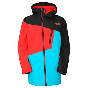Ski The North Face Gonzo Mens Shell Ski Jacket - North Face has done it again, they have created the ideal Shell just for men. This Gonzo Shell Ski Jacket has a regular fit, is made of Hyvent 2L Proweave fabric and lined with taffeta and mesh for the protection from the wind, water, and other outside elements while remaining highly breathable that will have others turning their heads in your direction. The eye catching asymmetrical patterning and center front ykk zipper will surely turn heads while you are in the park or soaring in the pipe. Other features include the fully sealed seams, adjustable fixed hood, pit zip vents, zippered chest pocket with internal media port, zippered hand warmer pockets, internal goggle and stash pockets and the snap-away powder skirt with gripper elastic that will protect you from the outside snow entering. On the deep powder days the clip-in integration, which enables the jackets powder skirt and pants to be fastened together with a system of multiple clips to seal out the snow and keep you warm and dry each time that you take to the powder. Ideal for trekking, skiing and snowshoeing in challenging, inclement weather conditions all winter long while looking fabulous, with protection like no other. Features: Wrist Accessory Pocket with Goggle Cloth, Internal Stash Pocket, Hook and Loop Adjustable Cuffs. Exterior Material: HyVent 2L Proweave, Insulation Weight: None, Taped Seams: Fully Taped, Waterproof Rating: 17,600mm, Breathability Rating: 800g, Hood Type: Fixed, Pit Zip Venting: Yes, Pockets: 6-7, Electronics Pocket: Yes, Goggle/Sunglasses Pocket: Yes, Powder Skirt: Yes, Hood: Yes, Warranty: Lifetime, Use: Ski, Battery Heated: No, Race: No, Type: Shell, Cut: Regular, Length: Medium, Insulation Type: None (Shell), Waterproof: Moderately Waterproof (5000mm-19,999mm), Breathability: Low Breathability (< 4000g), Cuff Type: Velcro, Wrist Gaiter: No, Waterproof Zippers: No, Cinch Cord Bottom: Yes, Insulator: No, Model Year: 2013, Product ID: - $129.95
