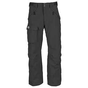 Ski The North Face Freedom Mens Ski Pants - The free-fitting North Face Freedom Mens Ski Pants offer a relaxed, contemporary fit cut generously through the seat, thighs, knees and cuff. Providing maximum mobility, flexibility and a smooth easy style you'll have the freedom to take these pants skiing or snowboarding. The Freedom Pants are high-performance and designed to be durable, waterproof and breathable. Its HyVent 2L Foxfaille Nylon Shell utilizes a polyurethane coating for waterproof protection, moisture permeability and durability. When you're working up a sweat and need a little cooling, the Chimney Venting System is there for you dramatically improving air flow which reduces heat and humidity and greatly improves breathability so you have increased comfort and performance. One of the best ski pants out there packed with North Face's finest technology, the Freedom Mens Ski Pant is sure to keep you warm and comfortable every day on the mountain. Features: Chimney Venting System, Reinforced Cuff. Exterior Material: HyVent 2L Foxfaille Nylon Faille, Softshell: No, Insulation Weight: None, Taped Seams: Fully Taped, Waterproof Rating: 17,600mm, Breathability Rating: 800g, Full Zip Sides: No, Thigh Zip Venting: Yes, Suspenders: None, Articulated Knee: No, Cargo Pockets: Yes, Warranty: Lifetime, Race: No, Waterproof: Moderately Waterproof (5000mm-19,999mm), Breathability: Low Breathability (< 4000g), Use: Ski, Type: Shell, Cut: Regular, Lining Material: Taffeta, Waist: Beltloops, Pockets: 3-4, Model Year: 2013, Product ID: 169631, Shipping Restriction: This item is not available for shipment outside of the United States. - $99.95