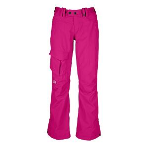 Ski The North Face Shawty Womens Ski Pants - This pair of North Face Shawty Womens Ski Pants have 60g of Heatseeker Eco insulation in all of the most important places. This provides skiers with the warmth needed along with comfort and style, without all of the bulk. This freeride style pair of ski pants has chimney venting that improves the airflow, while reducing heat and humidity and greatly improving breathability. This chimney venting system is based on physics that hot air rises. So strategic placement of stretch mesh in the upper sections of the leg gaiter functions as a highly efficient air intake. This stretchVent allows cool, dry air to flow in as heated, moist air rises and exits through the upper thigh vents allowing for continuous airflow and heat management. The Hyvent 2-layer fabric is a superior waterproof and breathable technology to keep you dry and comfortable while you hit the black diamond trails all day long. Other features on the Shawty Pant include the adjustable waist tabs for a custom individual fit each time that they are worn, hand warmer pockets, inner thigh vents with mesh gussets, thigh pocket, articulated knees and reinforced cuffs for added strength and durability. Having it all will be easy with this pair of North Face Shawty Ski Pants that have been designed especially for women, to fit the womens body while also offering great warmth-to-weight ratio, durability and ideal for cold-weather outings. Features: Inner Thigh Vents with Mesh Gussets, Thigh Pocket, Articulated Knees, Stretch-Vent Gaiter and Gripper Elastic, Chimney Venting System, Snap Gusset Hem, Pant-a-Lock Compatible, Buddy Lift Clip. Exterior Material: Polyurethane, Lining: Yes, Softshell: No, Insulation Weight: 60 Grams, Taped Seams: Fully Taped, Waterproof Rating: N/A, Breathability Rating: N/A, Pockets: 1-3, Full Zip Sides: No, Thigh Zip Venting: Yes, Lower Cuff Adjustment: Snaps, Suspenders: None, Articulated Knee: Yes, Low Rise: No, Warranty: One Year, Race: No, Waterp - $79.99