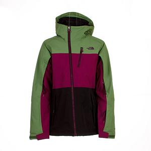 Ski The North Face Kizamm Womens Insulated Ski Jacket - Stand out on the mountain with this bold striped exterior North Face Insulated Jacket that is waterproof and breathable. With fully-taped seams, fixed hood and Ample 60g recycled Heatseeker insulation keeps riders warm cruising at the resort or in the backcountry. The Women's Kizamm Insulated Jacket from The North Face will keep you dry, warm, and styling, all you need for a great day of skiing or snowboarding. This womens active freeride jacket has so many features to keep you out on the mountain longer, you will wonder how you were able to make do without this Kizamm Jacket before. Designed and styled just for women to protect you from the wind and the flurries when un-expected changing weather conditions move in. The intense protection will keep you dry and comfortable from your first ski run of the day to the last one at the end of the day. You have the protection needed without the bulk every time that you take to the snow with the family or friends on a long weekend trip. So pack up the North Face Kizamm Insulated Womens Jacket, and hit the slopes in style. Features: Napoleon zip pocket, Handwarmer zip pockets, Wrist accessory pocket with goggle cloth, Internal Media Security Pocket, Snap-Back Powder Skirt with elastic gripper, Internal goggle pocket, Adjustable Hem System, Hook and loop adjustable cuffs. Warranty: Lifetime, Wrist Gaiter: No, Waterproof Zippers: Yes, Cinch Cord Bottom: No, Insulator: No, Model Year: 2013, Product ID: 268467, Shipping Restriction: This item is not available for shipment outside of the United States., Cuff Type: Velcro, Breathability: Low Breathability (< 4000g), Waterproof: Moderately Waterproof (5000mm-19,999mm), Insulation Type: Synthetic, Length: Medium, Cut: Regular, Type: Insulated, Rain Jacket: No, Race: No, Battery Heated: No, Use: Ski, Hood: Yes, Powder Skirt: Yes, Goggle/Sunglasses Pocket: Yes, Electronics Pocket: Yes, Pockets: 4-5, Pit Zip Venting: Yes, Hood Type: Fi - $129.95