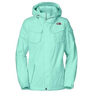 Ski The North Face Decagon Womens Insulated Ski Jacket - Whether you're cursing through the trees or charging off to the double black diamonds, stay dry and warm on every turn with The North Face Decagon Insulated Ski Jacket. The waterproof, breathable and fully seam sealed HyVent exterior sheds brisk winds and fresh snow fall, keeping you dry to the bone. Stay warm on cold days with 80g of lightweight Heatseeker Eco insulation throughout, lightweight, no bulk and extreme comfort. Fancy lace embossed taffeta lining makes you feel like a million bucks. The Decagon Insulated Ski Jacket by North Face flatters your look as it provides complete satisfaction with rider-specific features throughout. Features: Internal media security pocket, Internal goggle pocket, Hook-and-loop adjustable cuffs, Snap-back powder skirt with gripper elastic, Pant-a-locks, Adjustable hem system, Buddy lift clip. Exterior Material: HyVent exterior, Softshell: No, Insulation Weight: 80g, Taped Seams: Fully Taped, Waterproof Rating: 17,000mm, Breathability Rating: 800g, Hood Type: Fixed, Pit Zip Venting: Yes, Pockets: 6-7, Electronics Pocket: Yes, Goggle/Sunglasses Pocket: Yes, Powder Skirt: Yes, Hood: Yes, Warranty: Lifetime, Use: Ski, Battery Heated: No, Race: No, Rain Jacket: No, Type: Insulated, Cut: Regular, Length: Medium, Insulation Type: Synthetic, Waterproof: Moderately Waterproof (5000mm-19,999mm), Breathability: Low Breathability (< 4000g), Cuff Type: Velcro, Wrist Gaiter: No, Waterproof Zippers: Yes, Cinch Cord Bottom: No, Insulator: Yes, Model Year: 2013, Product ID: 268695, Shipping Restriction: This item is not available for shipment outside of the United States. - $149.95