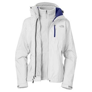 Ski The North Face Adele Triclimate Womens Insulated Ski Jacket - The North Face Adele Trclimate Jacket for Women is designed for hard-charging, snow-minded athletes, this three-in-one jacket keeps riders dry, warm, and comfortable for all-day exploration. Having the qualities of a waterproof, breathable, fully seam sealed exterior shell and an insulated, removable, interior jacket with unique, wavy quilting detailing, this snowsports jacket keeps athletes warm, comfortable and protected. . Exterior Material: Nylon, Insulation Weight: 200g, Taped Seams: Fully Taped, Waterproof Rating: 15,000mm, Breathability Rating: 1,000g, Hood Type: Removable, Pit Zip Venting: Yes, Pockets: 4-5, Electronics Pocket: No, Goggle/Sunglasses Pocket: No, Powder Skirt: Yes, Hood: Yes, Warranty: Lifetime, Use: Ski, Battery Heated: No, Race: No, Type: 3-in-1 Jacket, Cut: Regular, Length: Medium, Insulation Type: Synthetic, Waterproof: Moderately Waterproof (5000mm-19,999mm), Breathability: Low Breathability (< 4000g), Cuff Type: Velcro, Wrist Gaiter: No, Waterproof Zippers: No, Cinch Cord Bottom: No, Insulator: Yes, Model Year: 2013, Product ID: 268759, Shipping Restriction: This item is not available for shipment outside of the United States. - $179.95