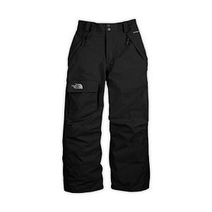 Ski The North Face Freedom Insulated Kids Ski Pants - When wearing The North Face Freedom Insulated Ski Pant for Boys, your guy will step into this waterproof, insulated, durable pant and can hit the mountain knowing that their lower half will be protected from cold, wintry elements. This pant is made from waterproof, breathable, fully seam sealed HyVent fabric on the exterior. This snow pant features warm and lightweight insulation. Cargo pocket at right thigh ideal to stash resort trail map. EZ (easy) Grow cuffs at leg openings can be cut and extended 2 inches to extend life of pant as boys grow, making the North Face Freedom Boys Insulated Ski Pant wearable for seasons to come. Features: Key clip, Zip-fly, Half elastic waistband with snap front closure, Belt loops, Gaiter with gripper elastic, Reinforced kickpatch , EZ (easy) Grow cuffs at leg opening, Embroidered logo at cargo pocket. Exterior Material: HyVent, Nylon, Lining: Nylon Taffeta, Softshell: No, Insulation Weight: 60g, Taped Seams: Fully Taped, Waterproof Rating: 600mm, Breathability Rating: 675g, Pockets: 1-3, Full Zip Sides: No, Thigh Zip Venting: No, Scuff Guards: Yes, Suspenders: None, Articulated Knee: Yes, Warranty: Lifetime, Race: No, Waterproof: Mildly Waterproof (1001mm-4999mm), Breathability: Low Breathability (< 4000g), Use: Ski, Type: Insulated, Cut: Regular, Lining Material: Nylon, Waist: Elastic, Pockets: 3-4, Model Year: 2012, Product ID: 230436, Shipping Restriction: This item is not available for shipment outside of the United States., Model Number: APZGLG2-XS, GTIN: 0648335362563 - $69.99