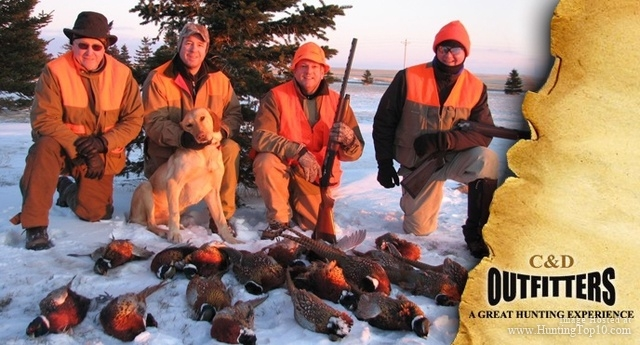 Hunting C&D Outfitters, Howes SD - hunt whitetail, antelope, pheasant, grouse, turkey and buffalo 605.985.5498