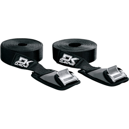 Surf When the road to the shore is bumpy, trust the cam buckles and soft neoprene wraps of these two 12-foot DAKINE Baja Tie Down Straps. - $22.46