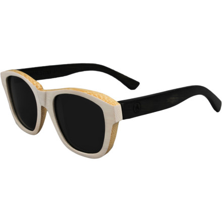 Camp and Hike If you're tired of gaudy designer sunglasses and overpriced sporty shades, go back to basics with the Woodzee Women's Daphne Bamboo Sunglasses. The retro shape provides classic style, while the 100% bamboo frame offers an eye-catching look without seeming tacky or over-the-top. - $95.95