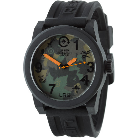 Camp and Hike Set yourself apart from the rest of the pack with the LRG Icon Series Watch. Chicks dig the lone wolf vibe, and are impressed with your fashion sense. - $46.77