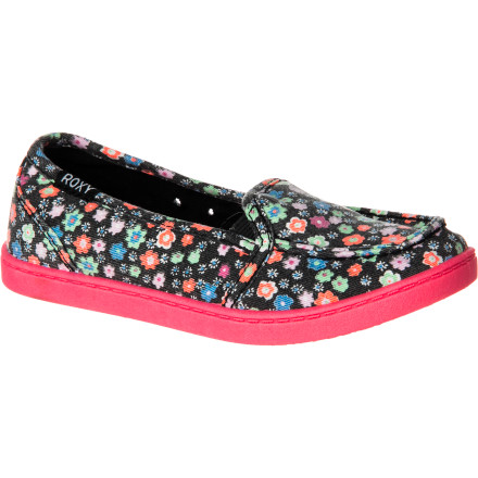 Surf Slip your feet into a pair of the Roxy Girls' Lido II Shoes, grab your overnight bag, and head to your friend's house for a sleepover. These comfy shoes slide easily on and off so you don't have to deal with any bothersome laces. - $30.60