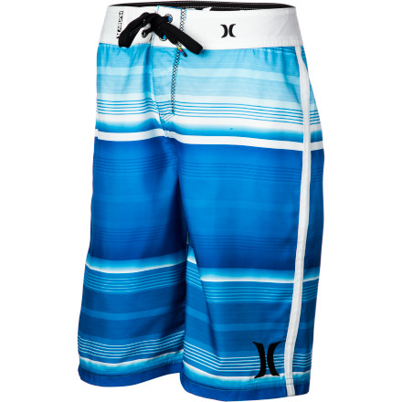 Surf The recycled Supersuede fabric in the Hurley Boys' Sunset Board Short handles summers of surf lessons, boogie-boarding, water-parking, and backyard sprinkler-hopping. - $39.45