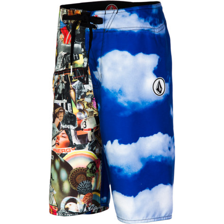 Surf Make a trade with your boygood grades for the Volcom Barter Boys' Board Short. He'll love the eye-catching print so he can show off at the pool, and the stretchy fabric won't hold him back when he's demonstrating his backflip skills off the diving board. - $49.45