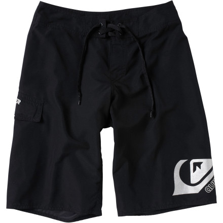 Surf Make sure your young'un stays comfy during his first trip to the beach with the Quiksilver Smashing Toddler Boys' Board Short. The supersuede fabric is ultra-soft against his skin, and the Diamond fly reduces chafing and rashes. - $32.00