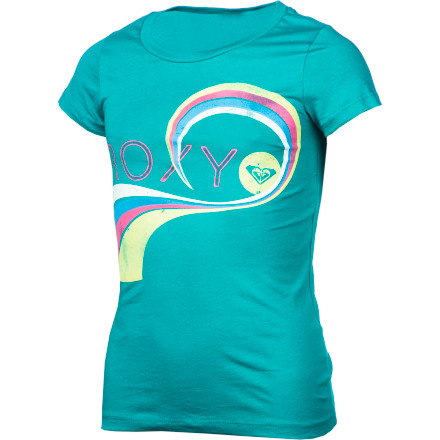 Surf Keep your outfit simple and sweet with the Roxy Girls' Locked In Short-Sleeve T-Shirt. - $18.00
