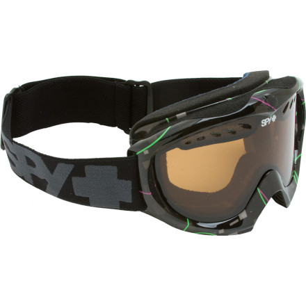 Snowboard The Spy Targa Mini Goggles pack the technical features and bronze lens of the Targa II into a kid-sized package. Kids are going bigger than ever these days, and thanks to the Targa Mini Goggle's vented frame and anti-fog dual polycarbonate lens, your grom sees everything on the slopes in total clarity. Spy capped off these high-tech kids' goggles with soft fleece-lined face foam for superior comfort during every run. - $20.97