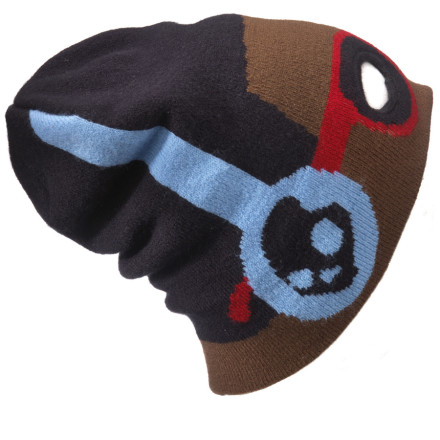 The Skullcandy Two Faced Beanie pretends to be all awesome and comfortable when you're wearing itbut it's totally talking shit behind your back to all your other beanies. Usually complaining about your greasy, unwashed hair. - $13.17