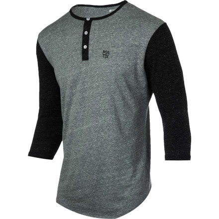 Starting a techno band using typical items found in your garage may have seemed like a good idea at the time, but since changing out of your beer-soaked Matix Monostack Henley Shirt and taking a cold shower, you're starting to reconsider a lot of decisions you made last night. - $23.07