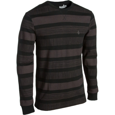 Surf Yo dawgVolcom heard you liked stripes. So they put stripes on your Strizipe Thermal Shirt so you can stripe while you stripe. - $20.97