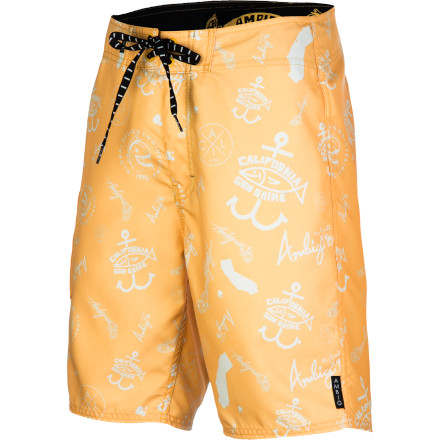 Keep it mellow this summer in the Ambig Cruiser Board Shorts that feature comfy, quick-drying fabric in a stylish tonal all-over print. - $34.96