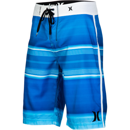 Surf Get out of your beach chair and into the water. The Hurley Men's Sunset Board Short handles body-surfing and board-surfing, and the drawcord waist and EZ fly closure ensure the surf doesn't accidentally steal your shorts. - $44.95