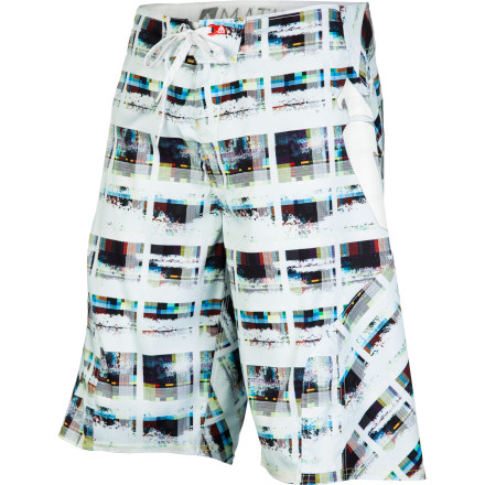 The Matix Dirtyplaid Board Short give you the sweet comfort you need for long days at the beach or weekend trips to the reservoir. Throw these babies on and hit the water. - $39.17