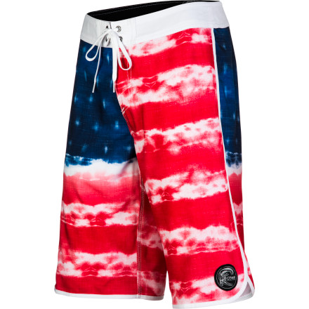 Surf Show off your American pride in the O'Neill Freedom Board Short. These ultra-comfy boardies throw down with the flexibility you need for aggressive surfing and the red-white-and-blue style you need to keep your flag flying. - $54.45