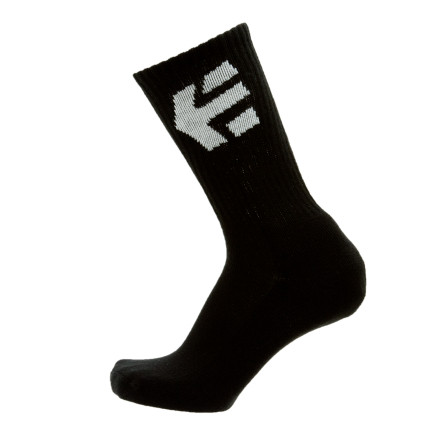Skateboard The etnies Men's Legacy Crew Sock gives your weary feet some much needed comfort. This cotton sock cushions your landings and breathes when you heat it up on the ramps or rails. - $10.77