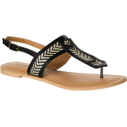 Surf Slide your feet into the O'Neill Women's Diamond Sandals when you're on your way out to enjoy a five-course meal or to have a few fancy drinks at the restaurant bar. - $32.36
