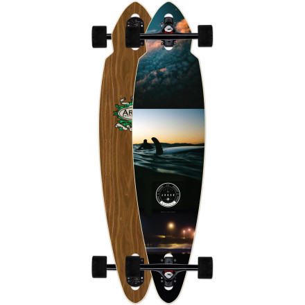 Skateboard The Arbor Mindstate Walnut Longboard combines the surfy, carvy ride of a compact pintail shape with the stability and agility of a drop-through deck. The Mindstate's fiberglass and maple construction offers a snappy flex for spring-loaded carves, made even better by Paris 180 trucks and super-grippy 72mm wheels. - $239.95
