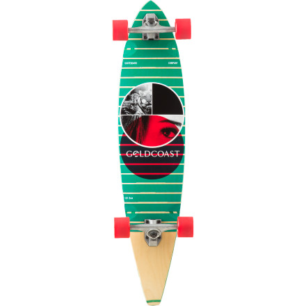 Skateboard The Gold Coast Filter Longboard offers a classic pintail shape and a flexy ride that's ideal for surf-inspired carving anywhere from mellow to medium-high speeds. - $188.96