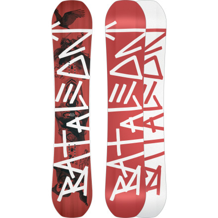 Snowboard The Bataleon G.W. Snowboard stands for 'Global Warmer', because with carbon stringers for pop and traditional fiberglass in a biax layup for a soft park flex, it ain't exactly the most eco-friendly board out there. But global warming isn't really real ... right - $293.97