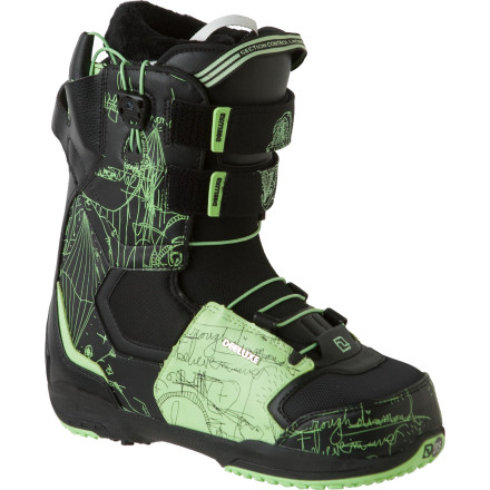 Snowboard The phrase 'diamond in the rough' pretty much describes how Deeluxe is often overlooked by most snowboarders, but the Men's Rough Diamond Snowboard Boot shines as bright (if not brighter) than the rest. Dual quick-pull lacing and a double powerstrap design at the upper cuff provides the fit that shredders who aren't willing to sacrifice performance need to stand out. - $167.37