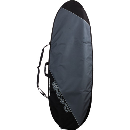Surf When the waves are less than epic but you still want a fun session, toss your stubby in the Dakine Daylight Deluxe Stubby Surfboard Bag and protect your board on the way to the beach. Quarter-inch foam guards against damage from bumpy rides in the back of a truck, and the heat-resistant tarpaulin bottom material means your board won't be a zillion degrees when you get there. - $79.95