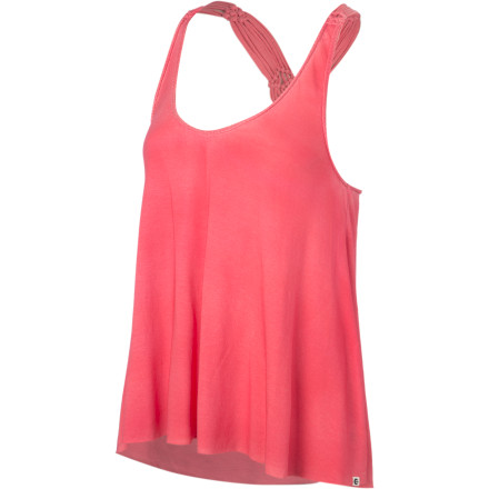 Surf As soon as you reach your hotel or time share, change out of your clothes and into a pair of shorts and the Billabong Women's All Twisted Tank Top. This lightweight tank features macrame racerback detail that offers a chic, simple look when you investigate the beach scene. - $39.45